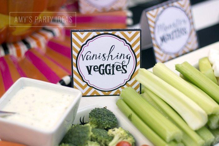 Halloween Pumpkin Carving Ideas from AmysPartyIdeas.com | Halloween Party Food Ideas| Vanishing Veggies