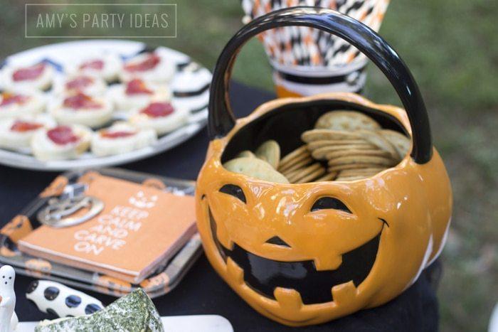 Halloween Pumpkin Carving Ideas from AmysPartyIdeas.com | Halloween Party Food Ideas