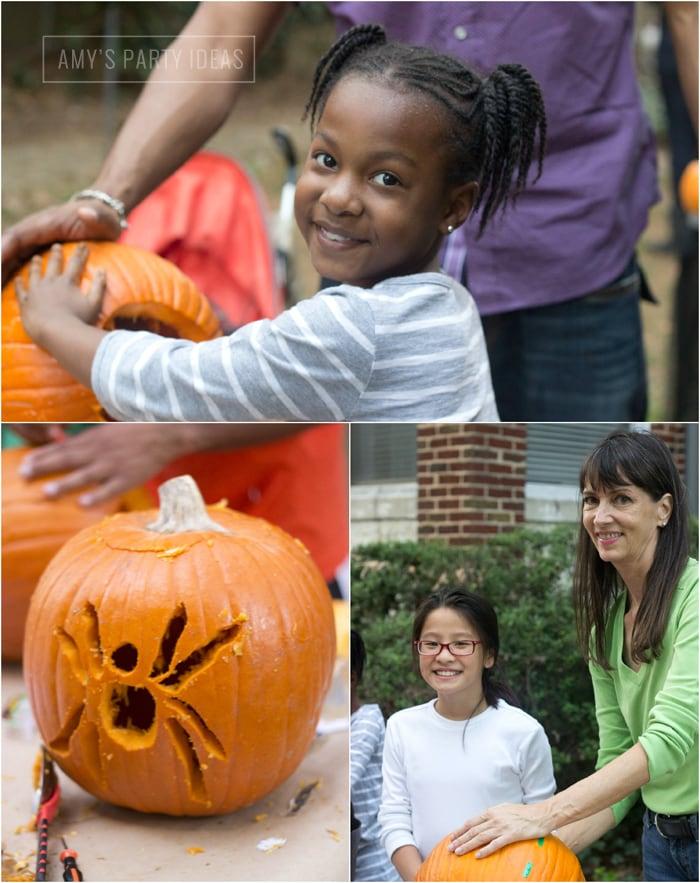 Halloween Pumpkin Carving Ideas from AmysPartyIdeas.com