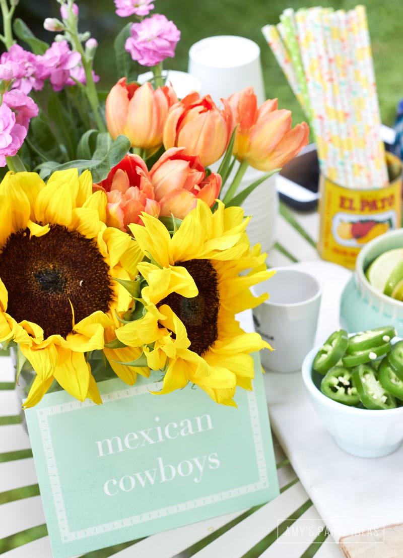 40th Birthday Party Ideas  from AmysPartyIdeas.com| Hasta La Vista Fiesta | Olé 40 | #goodbyethirties #fiesta #cincodemayo | coton-colors.com #CotonColors | Guestbookstore.com #GuestBookStore | Minted.com #minted | Swoozies.com #Swoozies | Glitterville.com #Glitterville