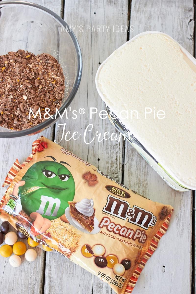 M&M's® Pecan Pie Ice Cream   Mars Harvest Party     #BakeInTheFun #shop #ad #cbias