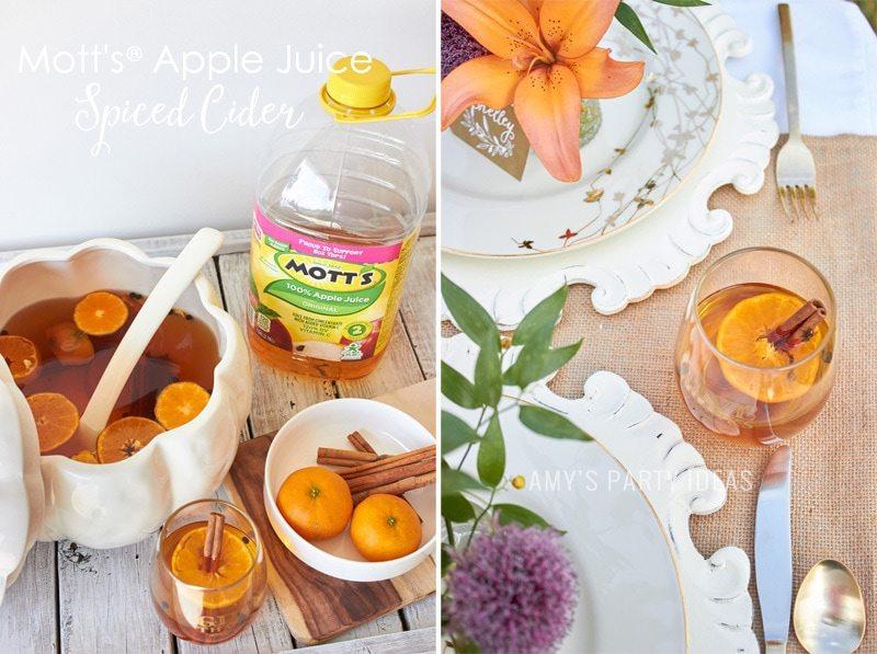 Mott's® Apple Juice Spiced Cider   Mars Harvest Party     #BakeInTheFun #shop #ad #cbias