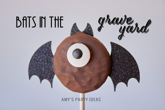 DIY Bats in the Graveyard Halloween Desserts | #SnackPackMixIns #shop #ad #cbias