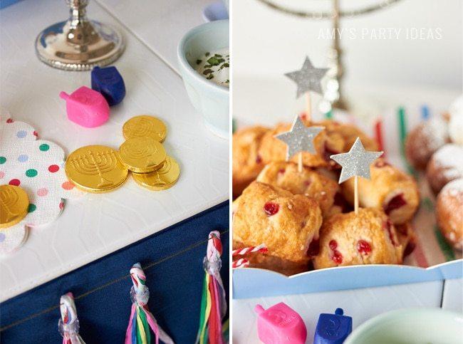 2015 Swoozies Hanukkah Decor | Chanukah party ideas as seen on AmysPartyIdeas.com