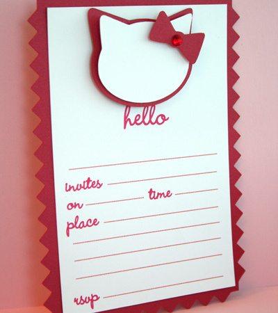 Hello Kitty Invitations & Thank You Notes