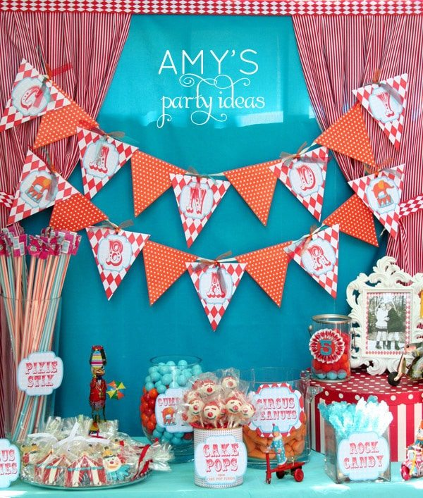 circus carnival birthday party ideas candy bar