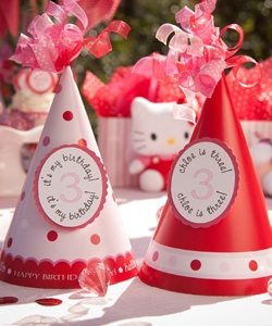 hello kitty birthday party ideas from Amy's Party Ideas