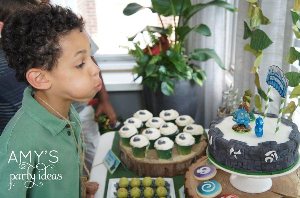 skylanders birthday party ideas, Skylanders Giants Birthday Party Ideas & Games   @AmysPartyIdeas #SkylandersGiants #party #DIY #Skylander #Birthday #dessert table #supplies