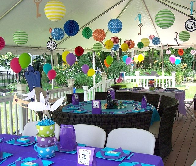 Grayson 39 s onederland featured party amy 39 s party ideas - Alice in the wonderland party decorations ...