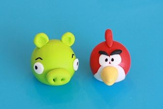 angry birds fondant cupcake topper tutorial