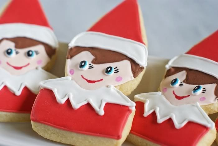 elf on the shelf sugar cookies tutorial
