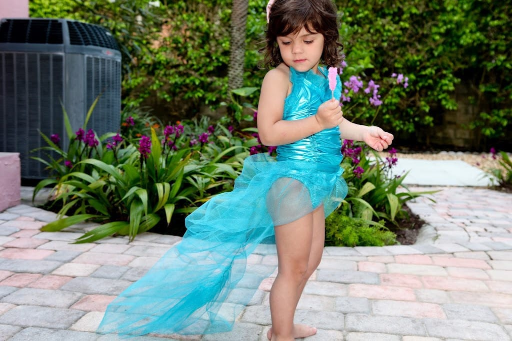 Mermaid Tail ~ Peter Pan Neverland Mermaid Party Ideas from TwoGirlsAndACardShoppe.com as seen on AmysPartyIdeas.com