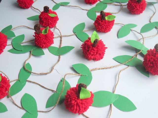 teacher appreciation week back to school party ideas apple garland