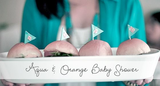 Aqua & Orange Baby Shower {Featured Party}