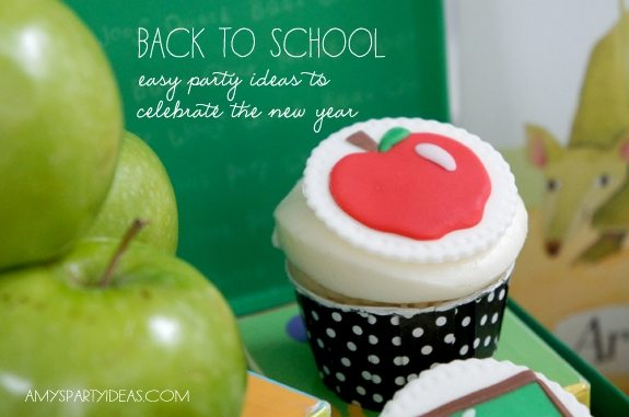 Back to School Party Ideas as seen on AmysPartyIdeas.com