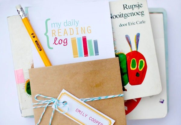 DIY Back to School Reading Log & Free Printables Amy's Party Ideas
