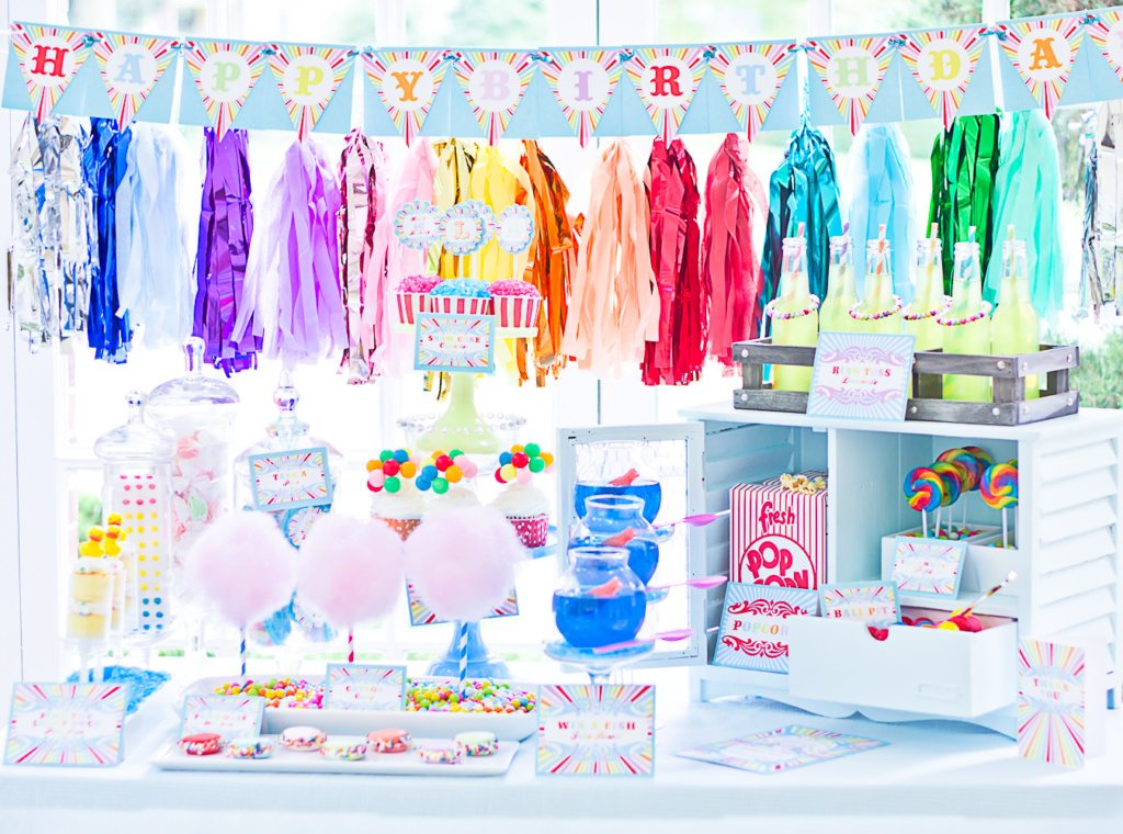 Coney Island Vintage Carnival Party Ideas from cutieputti.etsy.com as seen on AmysPartyIdeas.com
