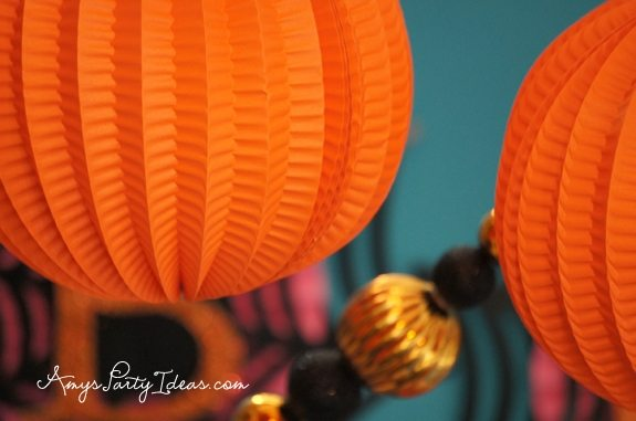 Glitterville Halloween Party Ideas Vintage Pumpkin from AmysPartyIdeas.com