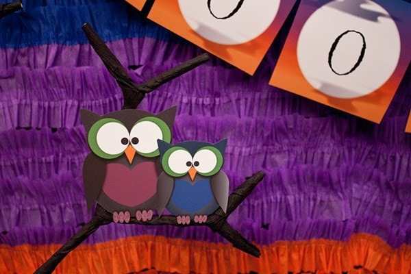 Lil' Hoot Halloween Party Ideas from PiggyBankParties.com as seen on AmysPartyIdeas.com