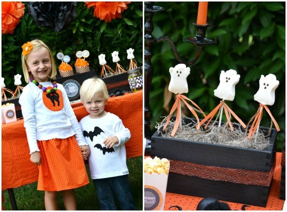 Too Cute Too Spook Halloween Party Ideas from Sweet Threads Clothing Co as seen on AmysPartyIdeas.com