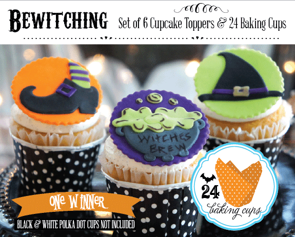 Halloween Party Ideas & Giveaway with FREE Halloween Cupcake Toppers from #LIVCreativity - Enter to Win on AmysPartyIdeas.com