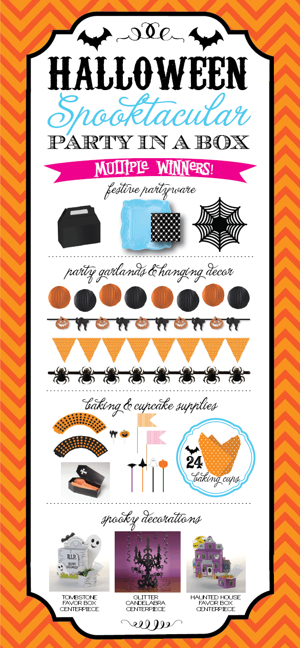 Halloween Party Ideas & Giveaway from AmysPartyIdeas.com, party in a box, creative converting