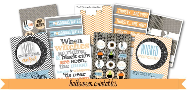 FREE Halloween Printables from PartyBoxDesign.com as seen in Woman's Day and on AmysPartyIdeas.com