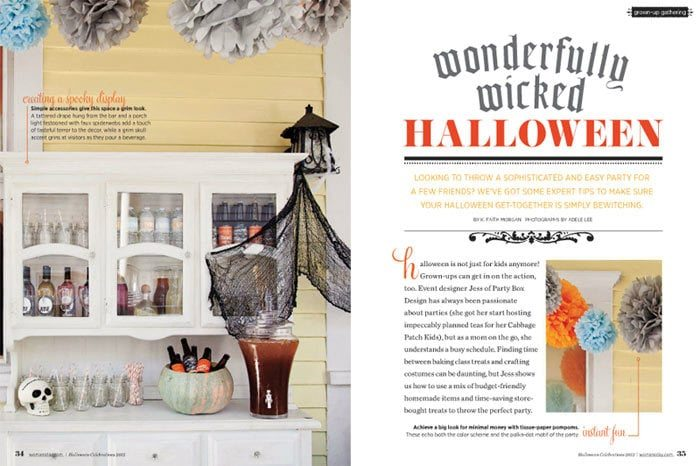 FREE Halloween Printables & Party Ideas from PartyBoxDesign.com as seen in Woman's Day and on AmysPartyIdeas.com