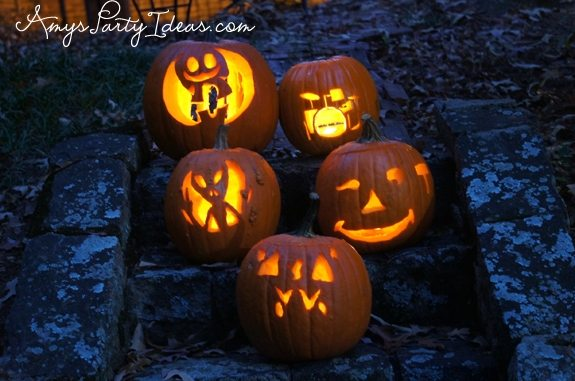 Halloween Party Ideas pumpkin carving templates