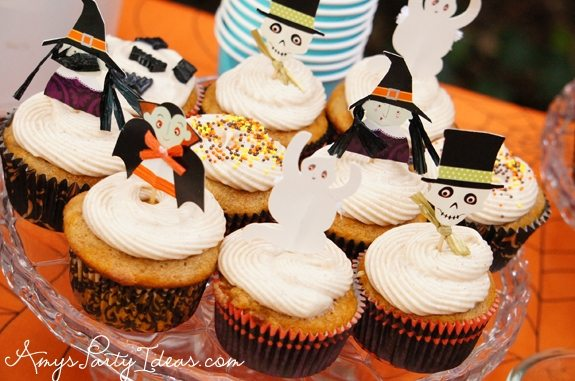 Halloween Party Ideas cupcake kits meri meri