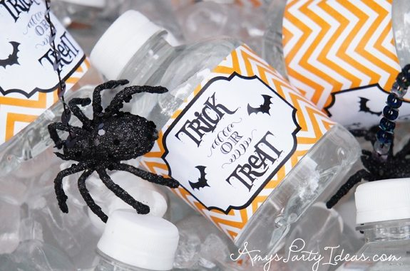 Halloween Party Ideas water bottle labels
