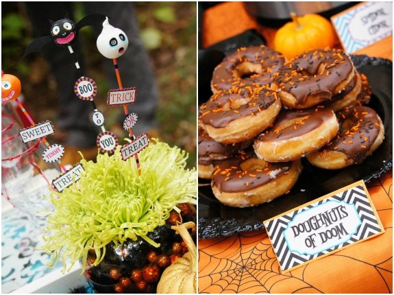 Halloween Party Ideas krispy kreme doughnuts