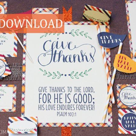 FREE Thanksgiving Party Decor & Ideas