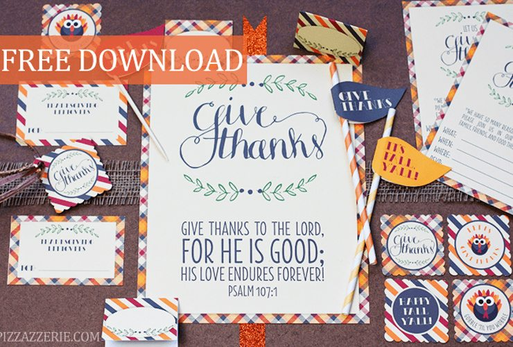 FREE Thanksgiving Party Decor & Ideas