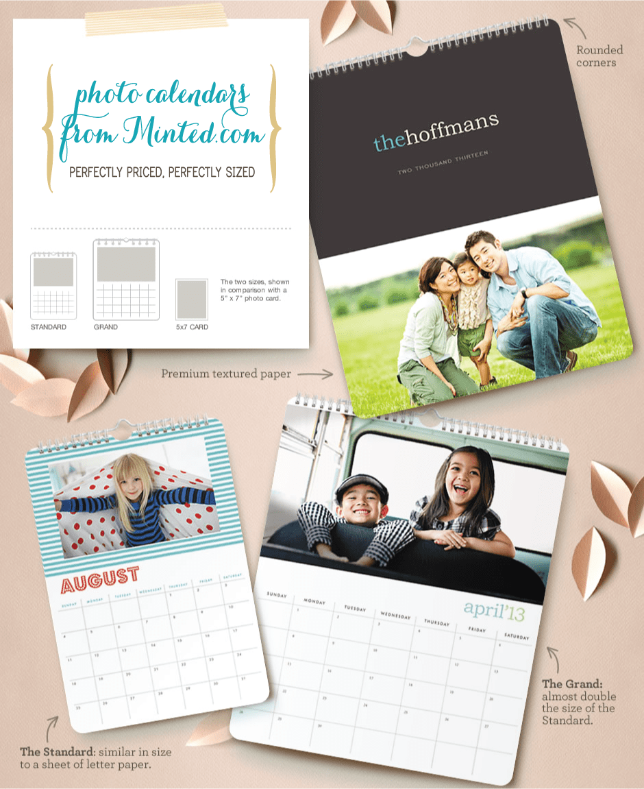 photo calendars from Minted.com perfect holiday gift ideas