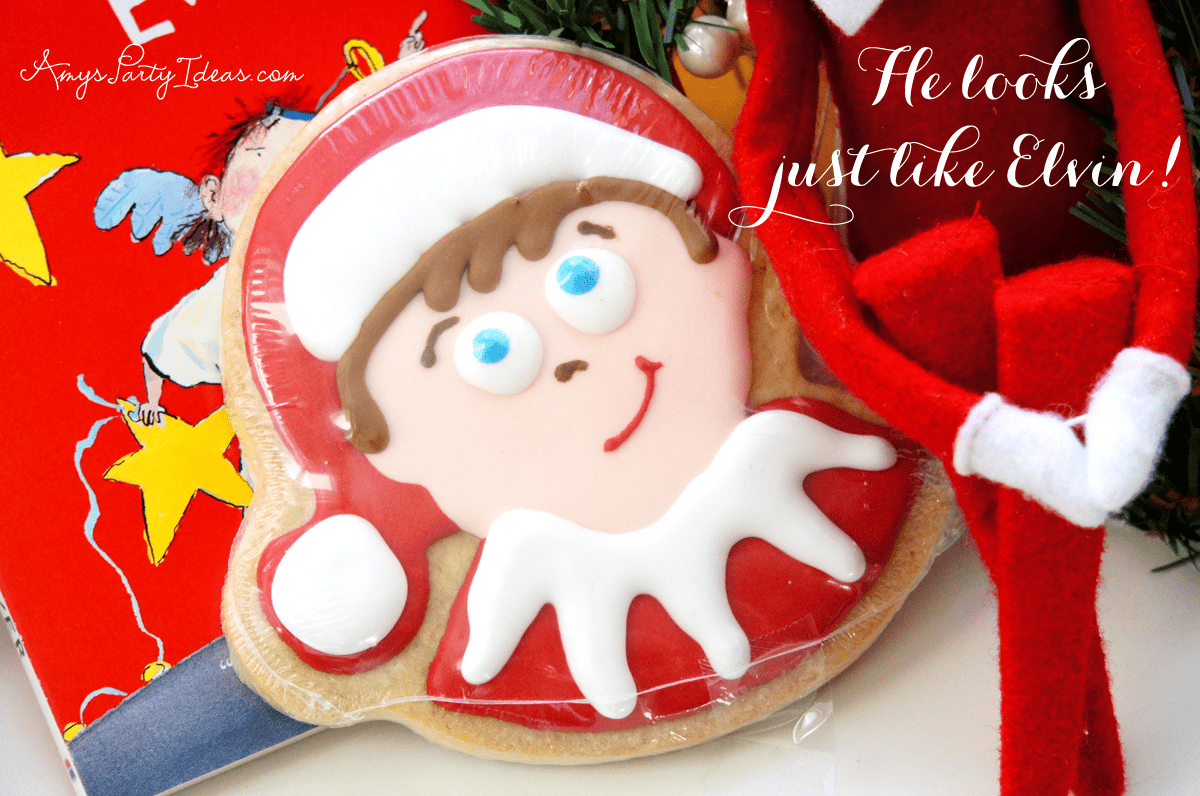 {A Holiday Classic & A Sweet Treat} Elf on the Shelf Ideas: Day 14 as seen on AmysPartyIdeas.com