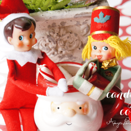 Elf on the Shelf Ideas ~ Day 12 ~ Candy Cane Cocoa