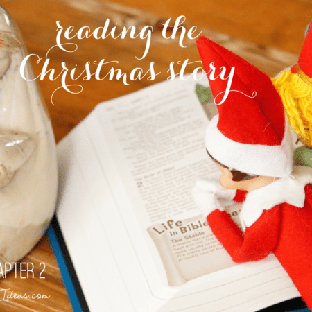 Elf on the Shelf Ideas ~ Day 11 ~ The Christmas Story