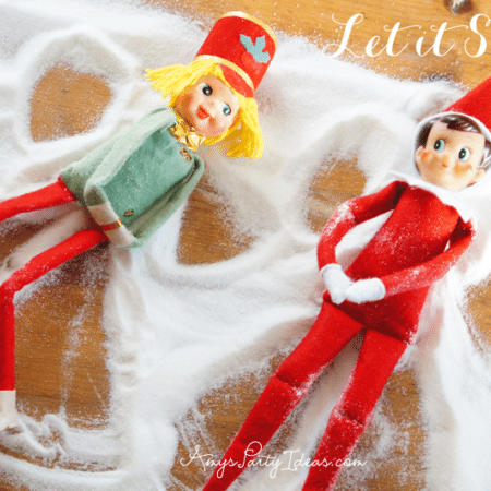 Elf on the Shelf ~ Day 8 ~ Let It Snow!