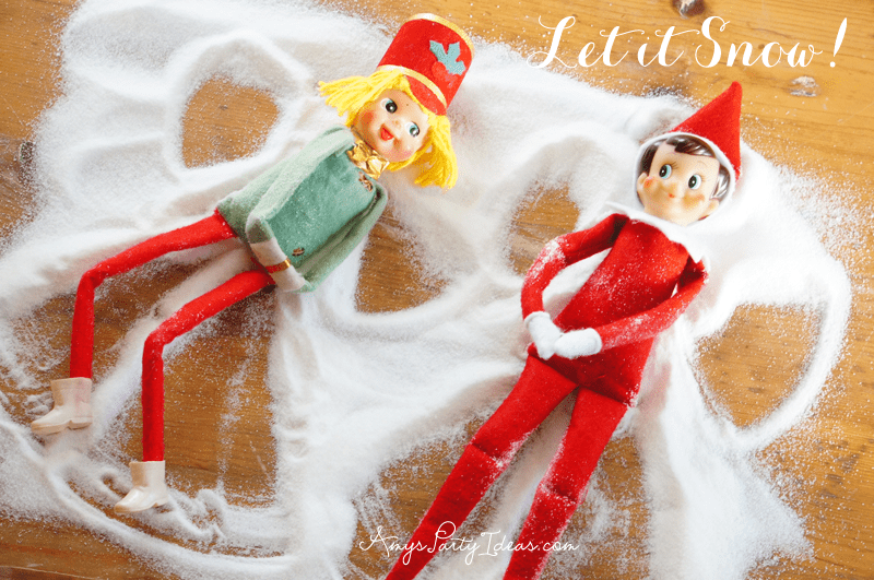 {Let it Snow!} Elf on the Shelf Ideas: Day 8 as seen on AmysPartyIdeas.com