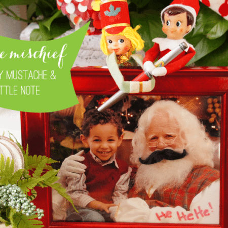Elf on the Shelf Ideas ~ Day 4 ~ Mustache Mischief