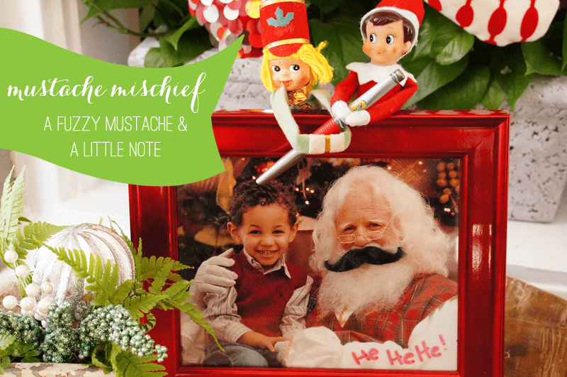 {Mustache Mischief} Elf on the Shelf Ideas: Day 3 as seen on AmysPartyIdeas.com