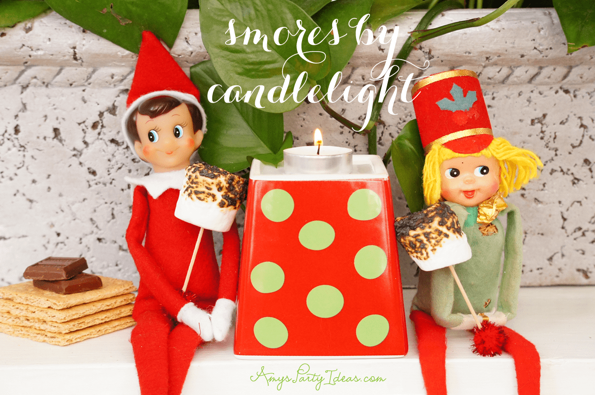 {Making S'mores} Elf on the Shelf Ideas: Day 10 as seen on AmysPartyIdeas.com