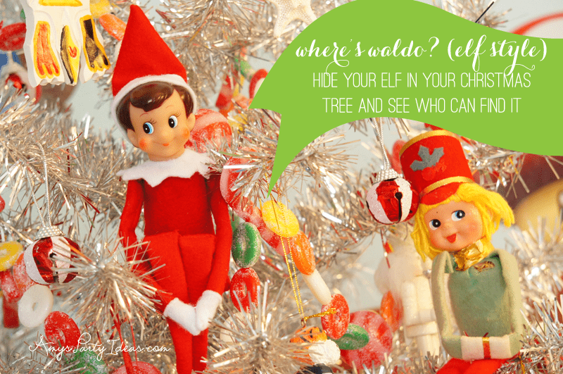 {Where's Waldo?} Elf on the Shelf Ideas: Day 7 as seen on AmysPartyIdeas.com