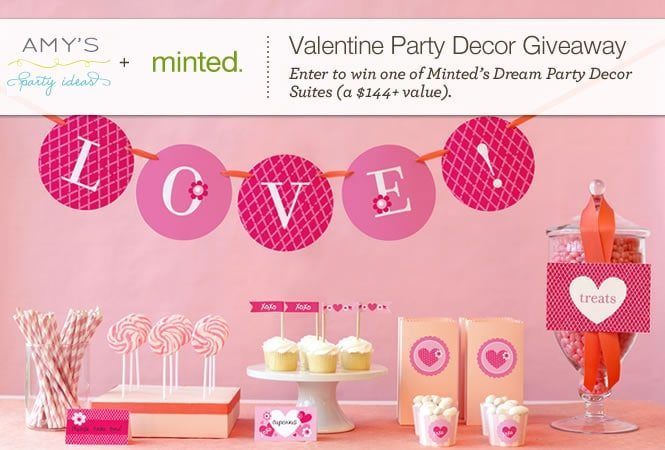 Valentine's Dream Party Package Giveaway from Minted!
