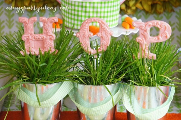 Vintage Confections Lollipops ~ Easter or Bunny Birthday Party Dessert Table Ideas from AmysPartyIdeas.com