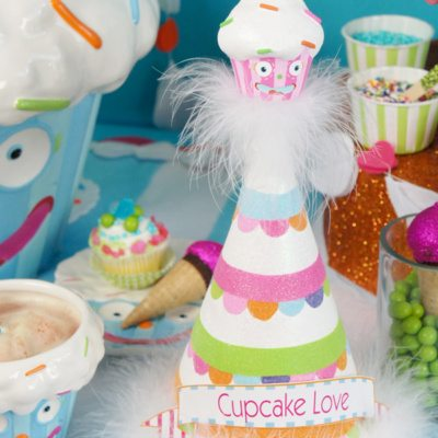 Welcome to Cupcake Town - Cupcake Themed Birthday Party Ideas from AmysPartyIdeas.com featuring @Glitterville