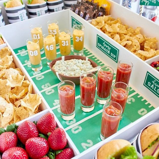 Snack stadium ready for tomorrows big game! Who are youhellip