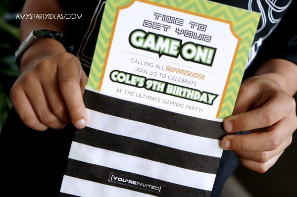 game on an ulitmate gaming party, party invitations