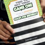 game truck party - printable invitations | Game Truck Party Ideas from AmysPartyIdeas.com | #gametruck #videogame #party #ideas